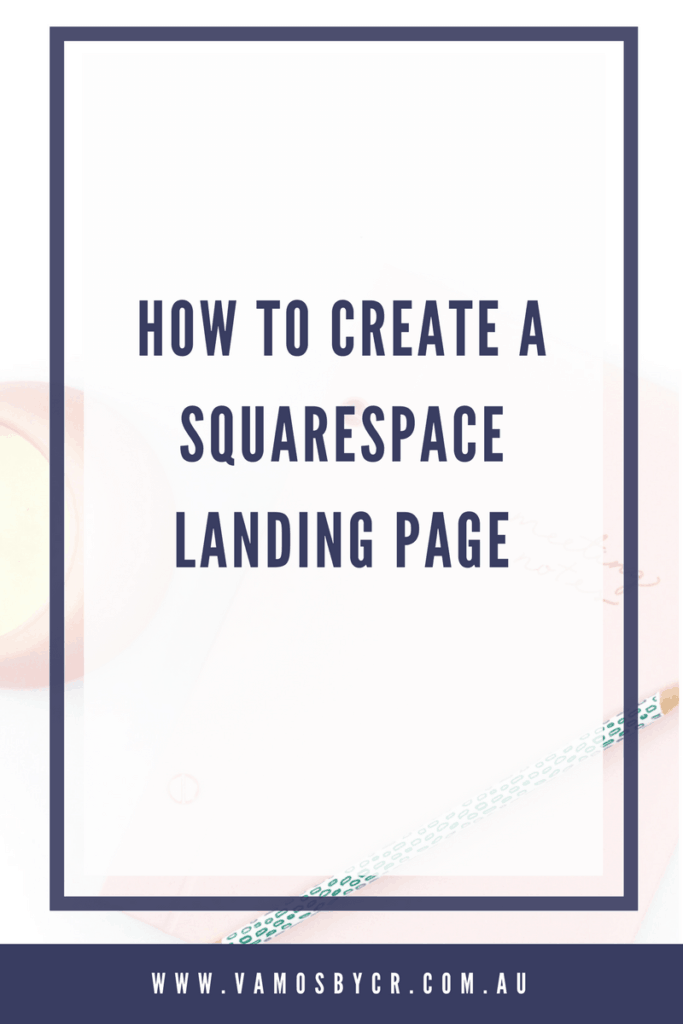 Video Tutorial on how to create a Squarespace landing page or sales page #squarespace #squarespacedesigner #leadpages #coverpages #squarespacetips