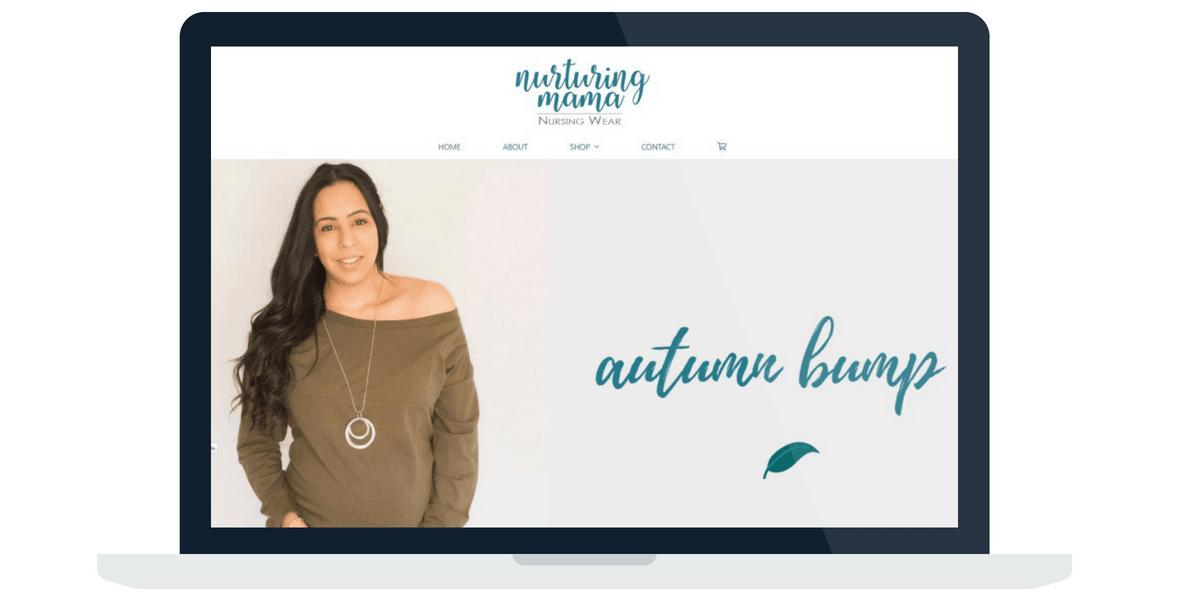 Nurturing Mama WordPress Website Design
