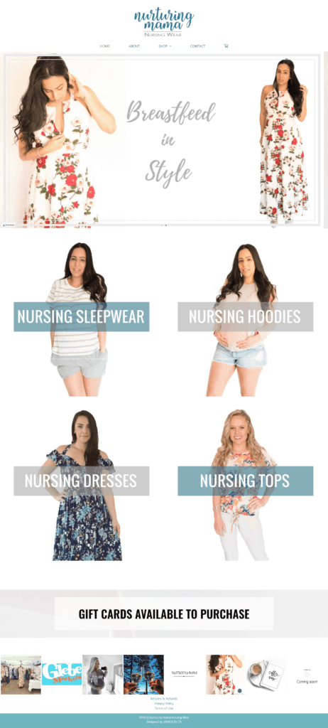 Nurturing Mama Website Design VAMOS by CR