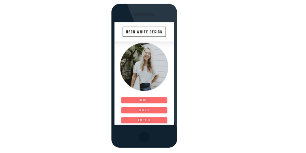 Instagram Landing Page Created by Carolina Roberts Web Design Services