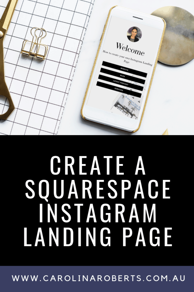 Learn step by step how to create a Squarespace Instagram Landing Page with the cover page feature. #squarespace #squarespacetutorial #squarespacetips #squarespacewebdesigner #webdesign #webdesigner