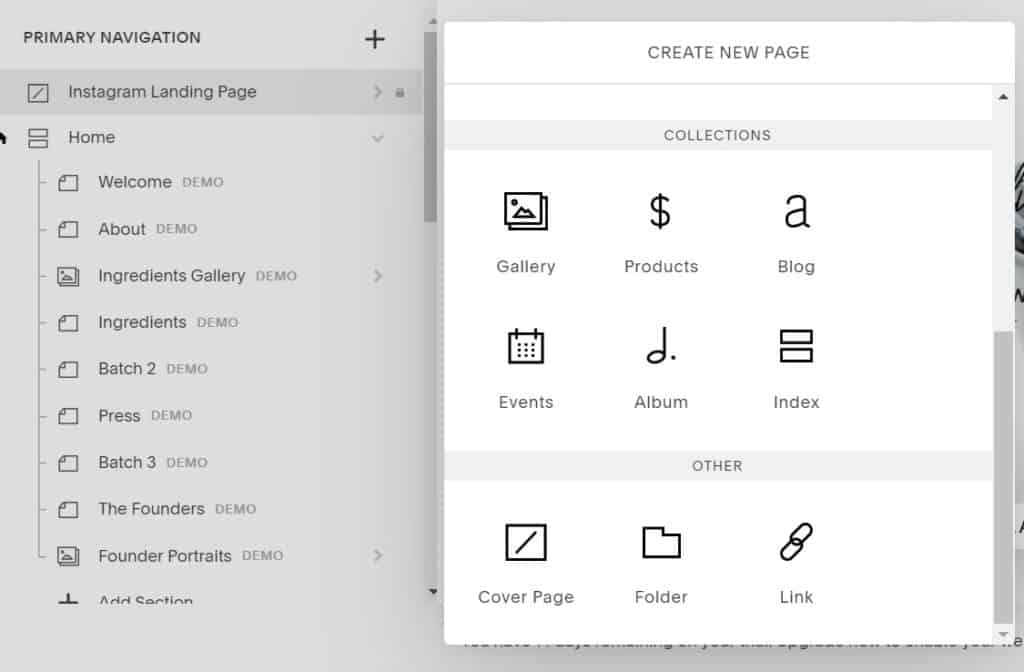 Create a Cover Page on Squarespace