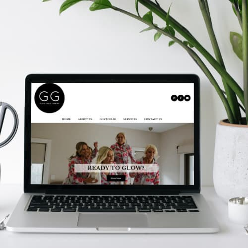 Glow Girls Tanning WordPress Website Design