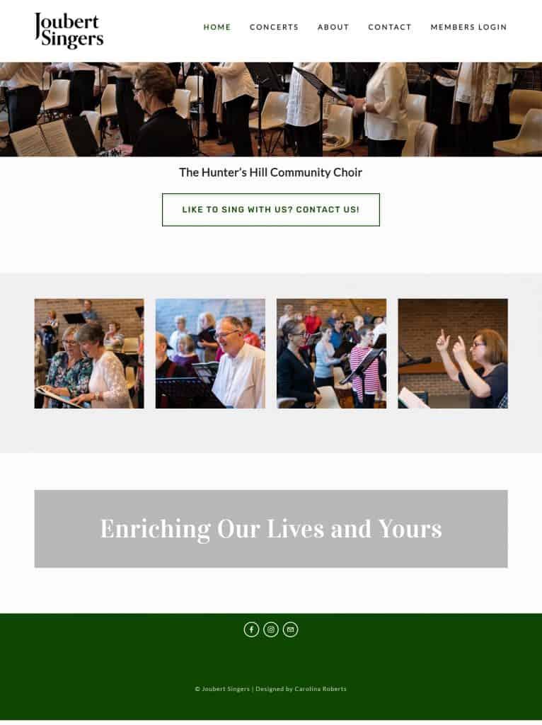 Squarespace Website Makeover for Jouber Choir
