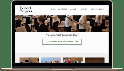 Joubert Singers Web Design Mock up