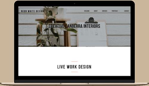 Neon White Design Custom Web Design Mock up