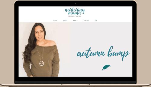 Nurturing Mama Web Design Mock up