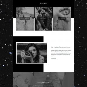 Onyx WordPress Photographer Monochrome Website Theme - Minimalist and Mono