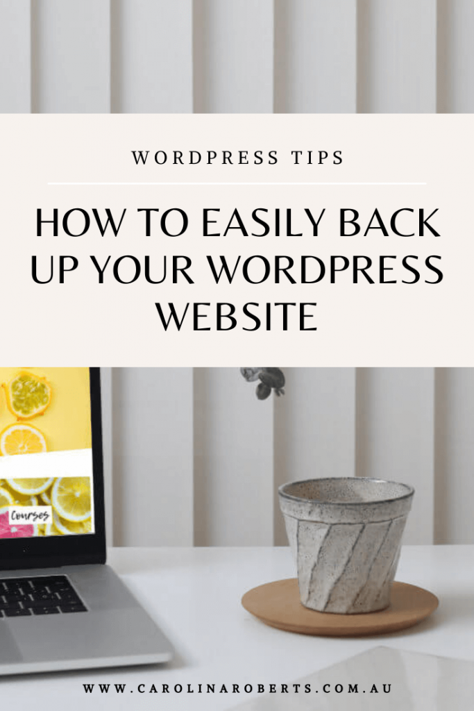 How to Easily Backup your WordPress Website