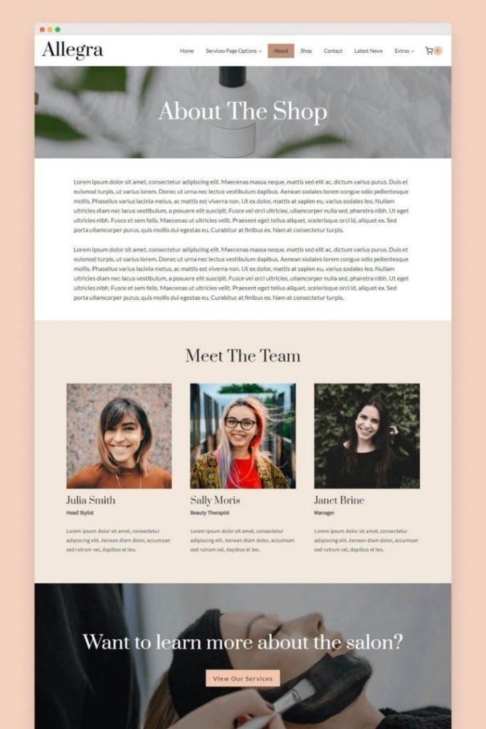 About Allegra Kadence WordPress Theme