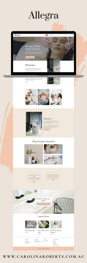 Allegra WordPress Child Theme/Template Full Page Capture