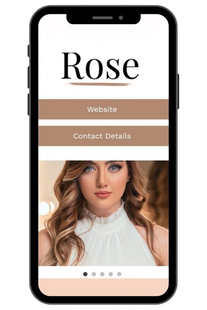Rose Kadence Child Theme Mobile View